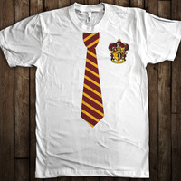 Gryffindor Harry Potter Tie and Crest T-Shirt Hogwarts Quidditch