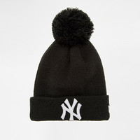Black Letter Embroidered Knitted Wool Beanie Hat