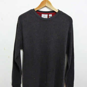 FARAH Crew neck jumper thermal mods indie punk weller longsleeved t-shirt Medium