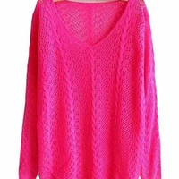 Mara Knit V Neck Pullover Sweater