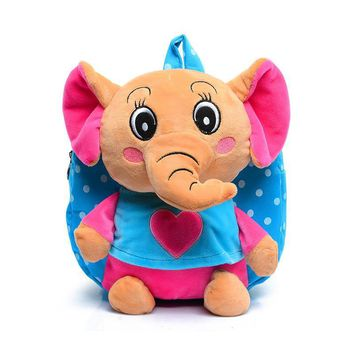 Kids Dots Cartoon backpack kids small elephant toy children's school bags Infants girls traveling animal bag for baby