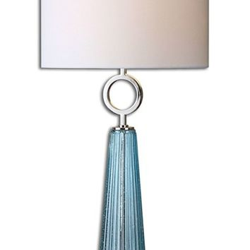 Uttermost 'Navier' Seed Glass & Metallic Table Lamp