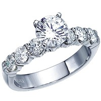 Ben Garelick Royal Celebrations Shared Prong Six Diamond Engagement Ring