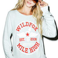 Wildfox Couture Mile High Member Baggy Beach Jumper Sky