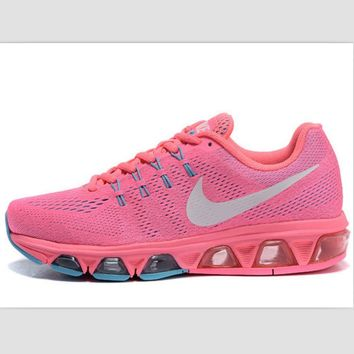 NIKE fashion knitted casual shoes sports running shoes Pink
