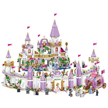 1082pcs Legoings Friends Princess Windsor's Castle And Carriage DIY Model Building Blocks Kit Toys Girl Birthday Christmas Gifts