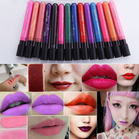 Waterproof Does Not Fade Lasting Matte Lipstick Green Silver Black Purple Lips Matte Velvet Cup Non-stick Lipstick Lip Gloss