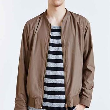 Your Neighbors Isa Bomber Jacket- Taupe