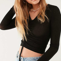Out From Under Alexa Ruched Long Sleeve Top | Urban Outfitters
