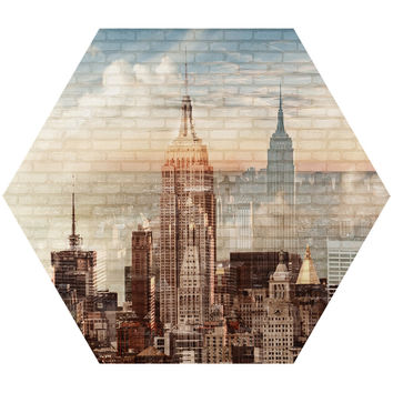 City Hex Wall Decal