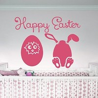 Easter Wall Art Sunday Decal Vinyl Egg Sticker Twig Kitchen Home Decals Interior Design Cafe Restaurant Decor Murals Ah125