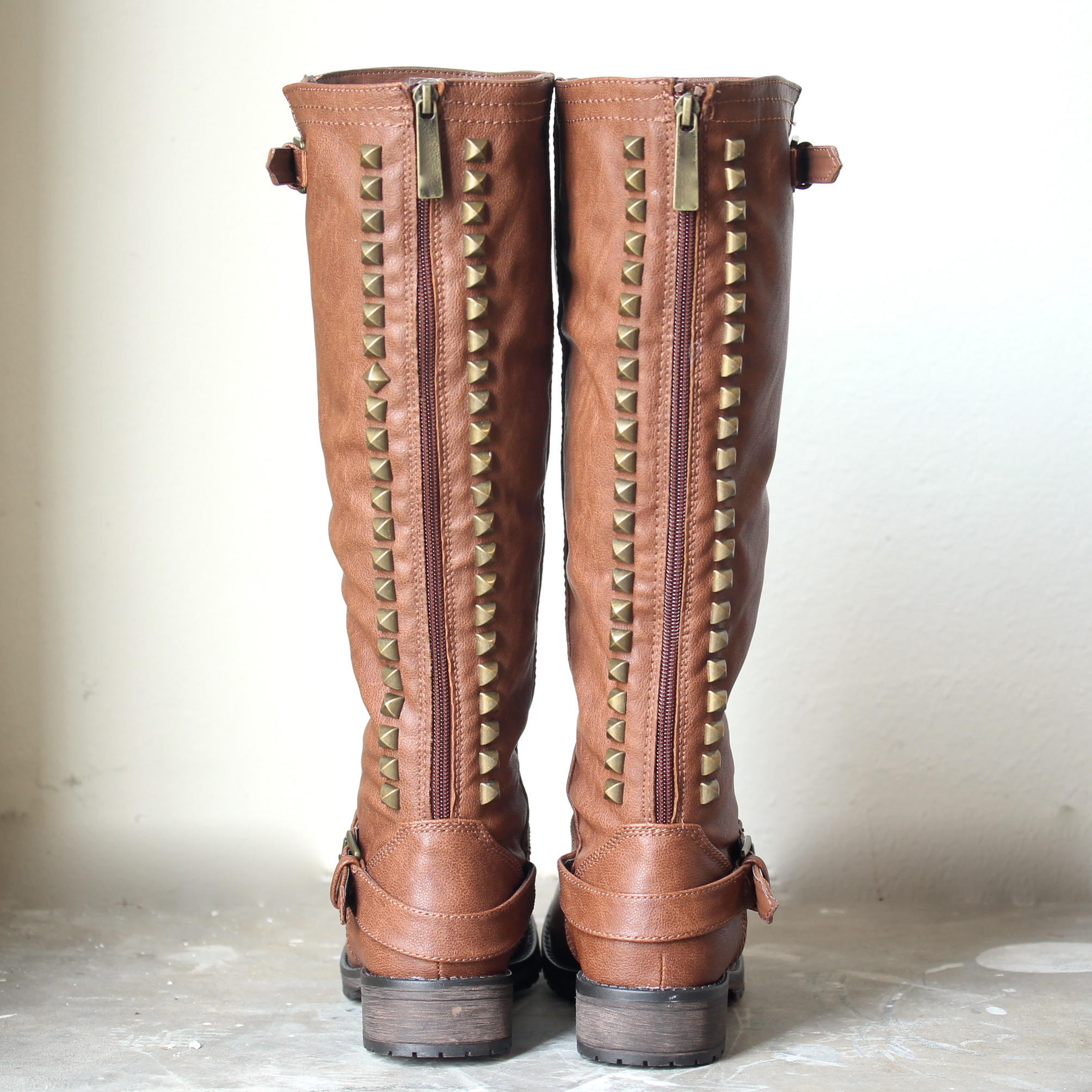 paige tall women studded riding boots - from shophearts | LOW CUT
