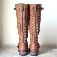 paige tall studded riding boots | final sale
