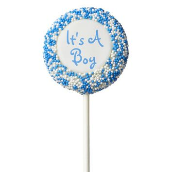 It's a Boy | Blue Baby Shower Favor Chocolate Covered Oreo Pop