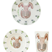The Multiples Bugsy Eight Hops Tableware Set - Cream/Tan