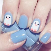 Cute Penguin Nails