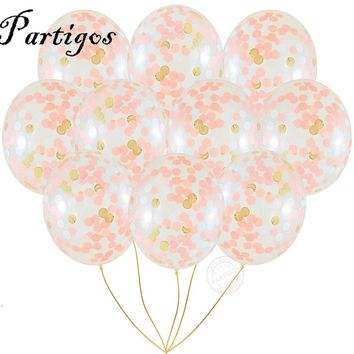 20pcs NEW Unicorn Confetti Balloon multicolor mixed confetti  clear latex balloon transparent balloon party wedding decoration