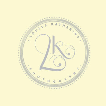 Photography logo premade photography logo design Watermark initials logo watermark custom logo design