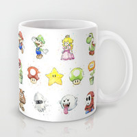Mario Characters in Watercolor  Mug by Olechka