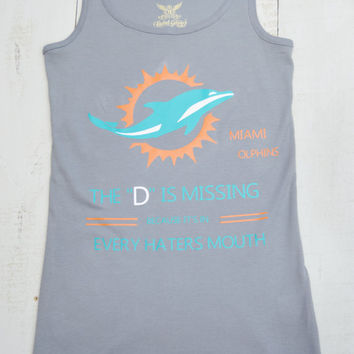 Womens Miami Dolphins Shirt/ Tank Top/Florida/ Miami/ Dolphins/ Tank Top/ Haters/ Football/ NFL/ Fan Shirt/ Sports