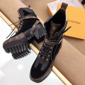 Louis Vuitton LV Women Casual Fashion Martin Boots Shoes-5