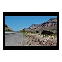 Scenic Highway Mountain View Poster