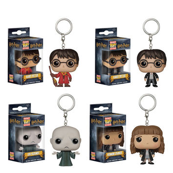 Lis Original Funko pop Keychain Harry Potter Hermione Key Chain Vinyl Figure Collectible Model Toy with Original box