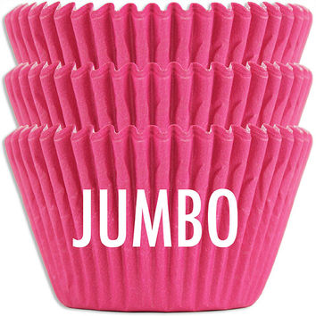 Jumbo Electric Pink Baking Cups