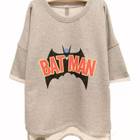 Batman Free Style Cutton Hoodie/Tshirt For Women from FUNKISS