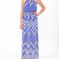 As U Wish Chevron Maxi Dress