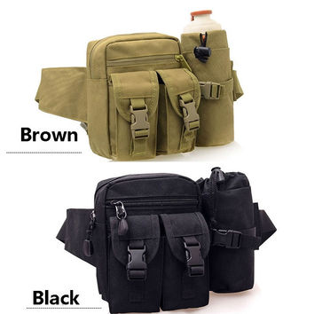 Outdoor Adventure Travel Kettle Waist Pack Sports Chest Pack Tactical Backpack