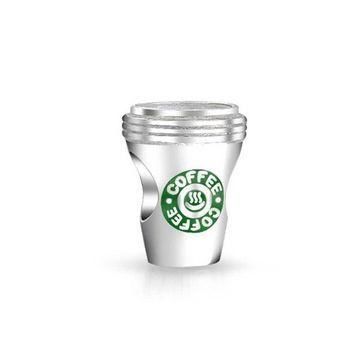 Bling Jewelry 925 Sterling Silver Coffee Cup Charm Bead Pandora Compatible