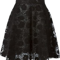 Giamba Flower Embroidery Skirt - Stefania Mode - Farfetch.com