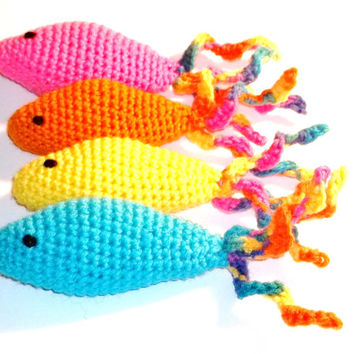 Catnip Cat Toy Fish Hand Crochet