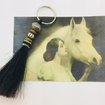 Authentic Horse Hair Key Ring