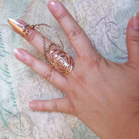 Steam Punk Goth Long Sharp Finger Armour Statement Ring Claw - Size 7