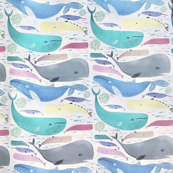 Baby Gift Wrap Wrapping Paper, Whale That's Nice (8 Rolls 5ft x 30in)