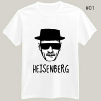 Breaking Bad T-shirt Heisenberg Sketch Mens White Tees Plus Size