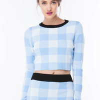 Check It Oversized Gingham Sweater GoJane.com