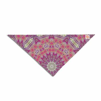 "Alison Coxon ""Gypsy Medallion Purple"" Pink Digital Pet Bandana"