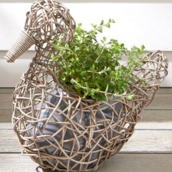 Buy Rattan Duck Planter online today at Next: United States of America