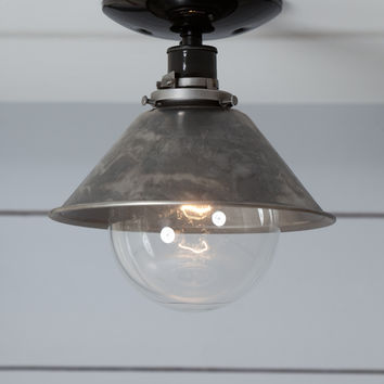 Steel Metal Shade Light - Semi Flush Mount Lamp