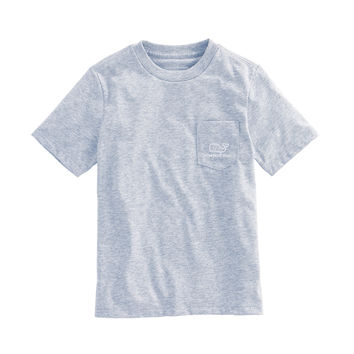 Boys Heather Vintage Whale Pocket T-Shirt