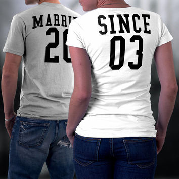 Couples Shirts, Married Since Matching Couples Shirt, Couples Tshirts, His and Her Shirts, Wedding/ Anniversary Gift, Couples Gift