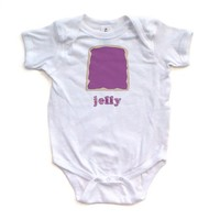 Funny Twins or Halloween Jelly Baby Bodysuit (Goes With Peanut Butter) Soft Cotton