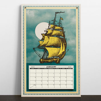 Clipper Ship 2017 Calendar