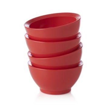 Calibowl ® Nonslip Red Prep Bowls (Set of 4)