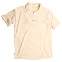 TERRY CLOTH POLO CREAM