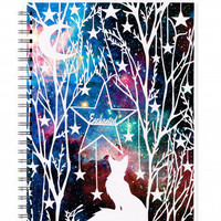 Fox Illustration - Spiral Notebook - Enchanted - Woodland Art - Lined Pages - A5 notebook