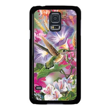 Hummingbirds And Flowers Samsung Galaxy S5 Case